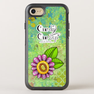 iPhone positif 7 de fleur de griffonnage de pensée Coque OtterBox Symmetry iPhone 8/7