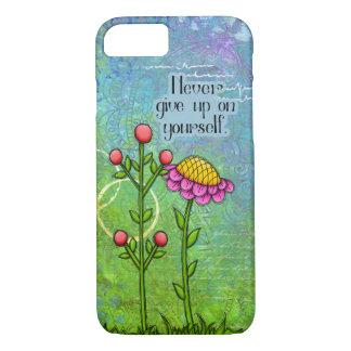 iPhone positif adorable 7 de fleur de griffonnage Coque iPhone 8/7