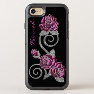 iPhone rose et argenté 6S d'Otterbox de roses Coque OtterBox Symmetry iPhone 8/7