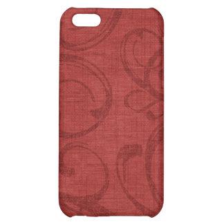 iPhone rouge victorien élégant 4 de caisse de poin