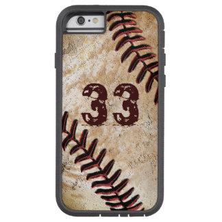 iPhone vintage de base-ball de cool de nombre du Coque iPhone 6 Tough Xtreme