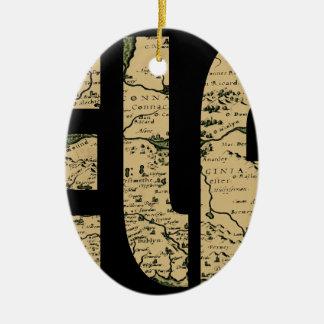 ireland1598b ornement ovale en céramique