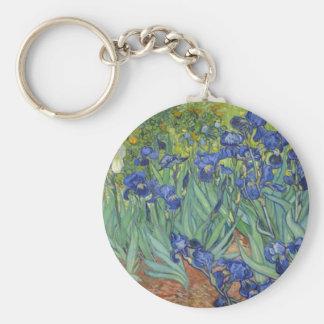 Iris bleus porte-clés