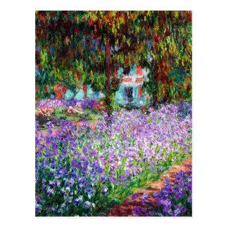 Iris dans le jardin de Monet Cartes Postales