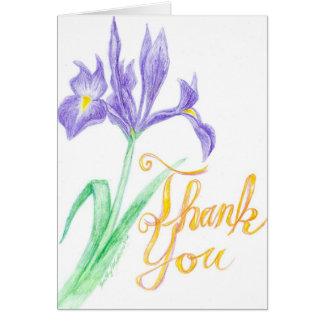 Iris de Merci Carte De Vœux