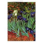Iris de Van Gogh, art vintage de post impressionni Cartes