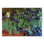 Iris de Van Gogh, art vintage de post impressionni Carte De Vœux
