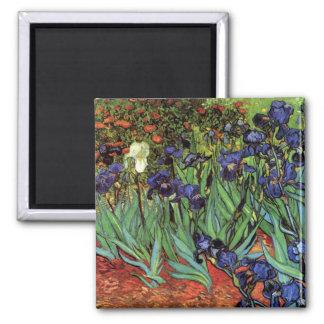 Iris de Van Gogh art vintage de post impressionni Aimant Pour Réfrigérateur