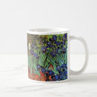 Iris de Van Gogh, art vintage de post Tasses À Café