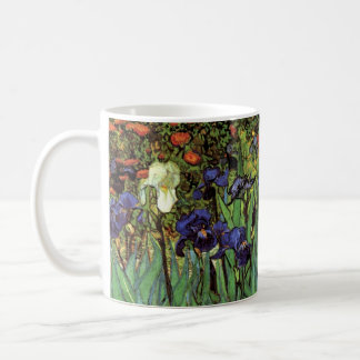 Iris de Van Gogh, beaux-arts vintages de jardin Mug