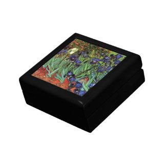 Iris de Van Gogh, beaux-arts vintages de jardin Petite Boîte À Bijoux Carrée