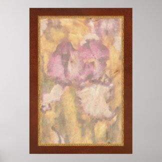 Iris - Diafragma violeta Posters