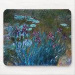 Iris et nénuphars, Claude Monet Tapis De Souris