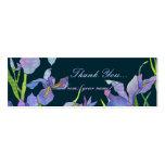 Iris : Étiquette/signet de cadeau de Merci Cartes De Visite Professionnelles