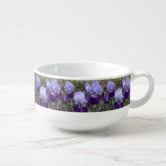 Iris germaniques bleus bol à potage