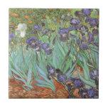Iris par Vincent van Gogh, fleurs vintages de Carreau En Céramique