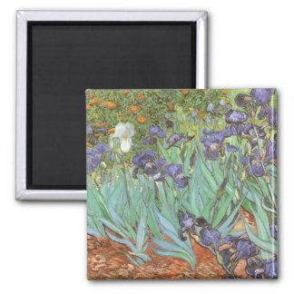 Iris par Vincent van Gogh, impressionisme vintage Magnet Carré