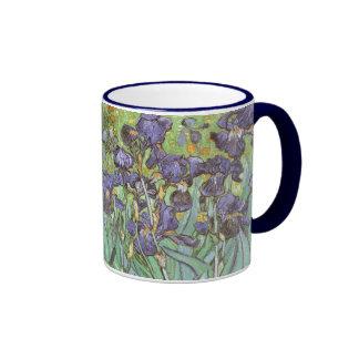 Iris par Vincent van Gogh, impressionisme vintage Mug Ringer