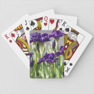 Iris pourpres floraux jeux de cartes
