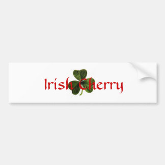 Irish_clover, cerise irlandaise autocollant pour voiture