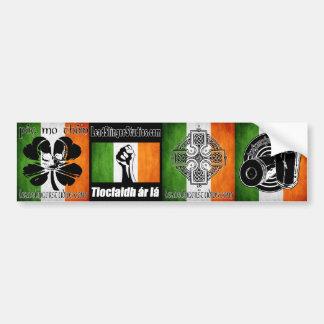 Irlandais 4 Bumperstickers de LSS Adhésif Pour Voiture