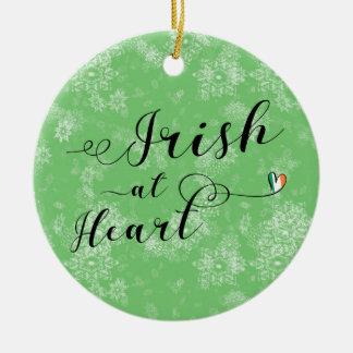 Irlandais au coeur, ornement d'arbre de Noël,