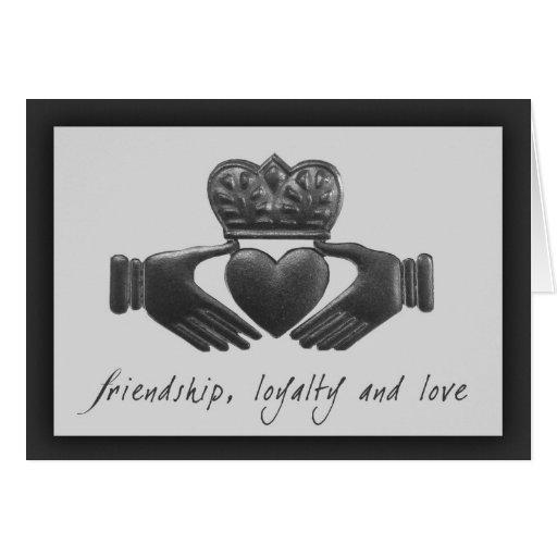 Irlandais Claddagh, amitié, fidélité et amour Carte De Vœux