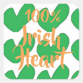 Irlandais de 100% avec les autocollants verts de