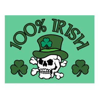Irlandais de 100% carte postale