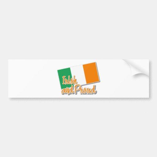 irlandais et fier adhésifs pour voiture