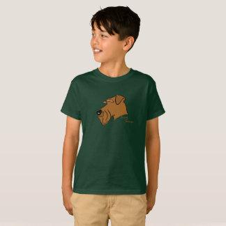 Irlandais terrier tête silhouette t-shirt
