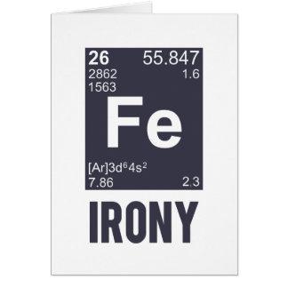 Ironie ironique de Fe d élément chimique Carte