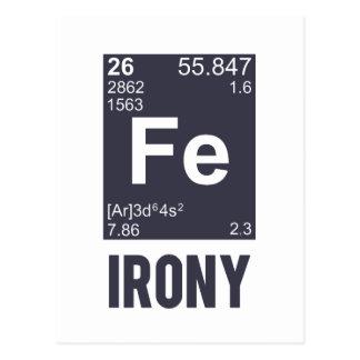 Ironie ironique de Fe d élément chimique Cartes Postales