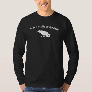 Islandais - athlétisme de corneille t-shirt