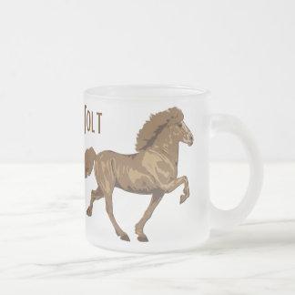 islandais vintage des années 1930 mug en verre givré