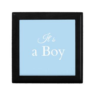 it´s un garçon petite boîte à bijoux carrée