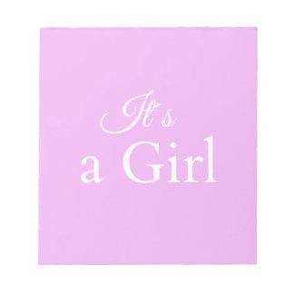 it´s une fille bloc-note