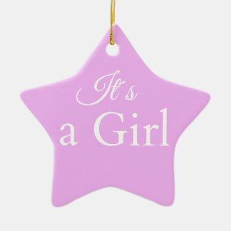 it´s une fille ornement étoile en céramique