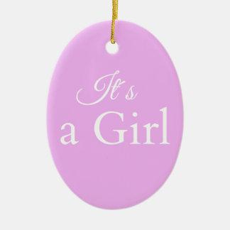 it´s une fille ornement ovale en céramique