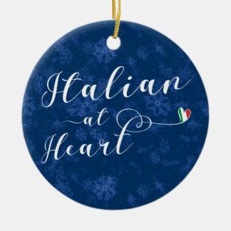 Italien au coeur, ornement d'arbre de Noël, Italie