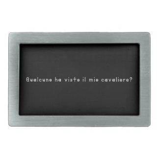 Italien-Chevalier Boucle De Ceinture Rectangulaire