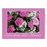 Italien de bouquet de rose de rose de carte du jou
