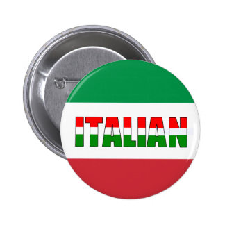 Italien-Drapeau de l'Italie ! Badge Rond 5 Cm