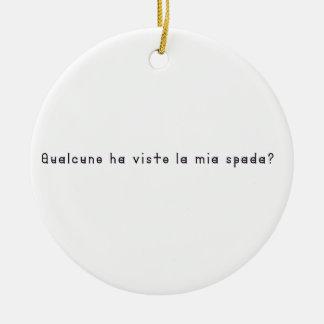 Italien-Épée Ornement Rond En Céramique