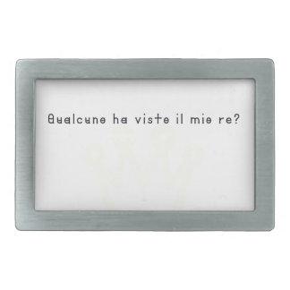 Italien-Roi Boucle De Ceinture Rectangulaire