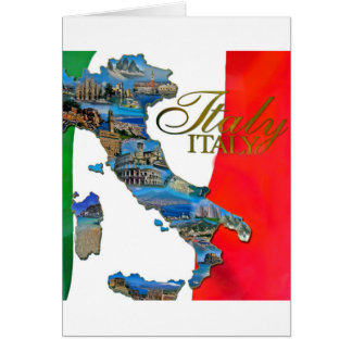 "Italienne la ""botte "" carte de vœux"