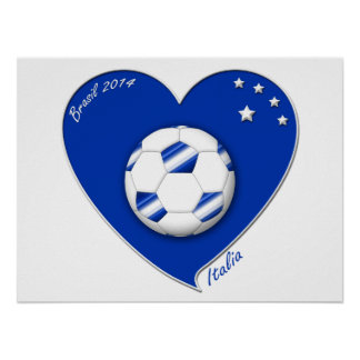 Italy Soccer Team. Football de l'«ITALIE» 2014 Posters