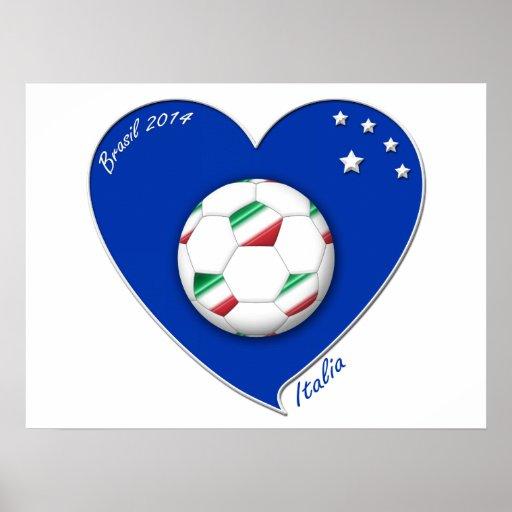 Italy Soccer Team. Football de l'«ITALIE» 2014 Poster