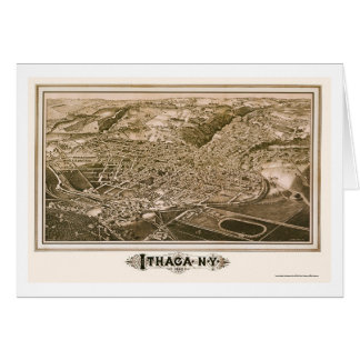 Ithaca, carte panoramique de NY - 1882