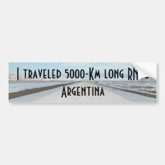 Itinéraire 40 (Ruta Cuarenta) Argentine, Patagonia Autocollant Pour Voiture